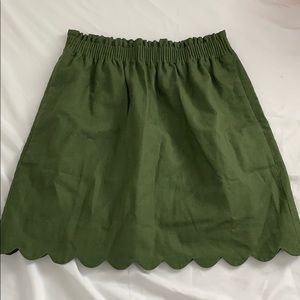 J crew scallop skirt